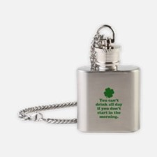 You can't drink all day if you Flask Necklace