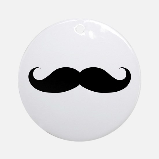 Hipster Moustache Ornament (Round)