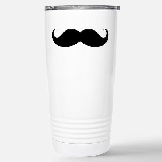 Hipster Moustache Stainless Steel Travel Mug