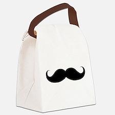 Hipster Moustache Canvas Lunch Bag