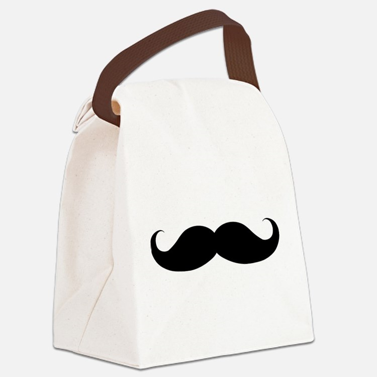 Hipster Moustache Canvas Lunch Bag