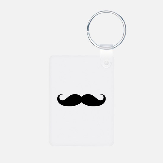 Hipster Moustache Aluminum Photo Keychain