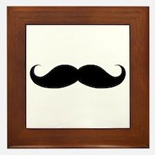 Hipster Moustache Framed Tile