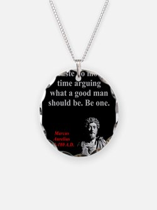 Waste No More Time - Marcus Aurelius Necklace