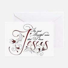 Beautiful name of Jesus Greeting Card