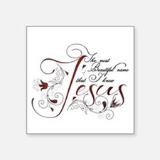 Beautiful name of Jesus Sticker