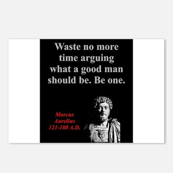 Waste No More Time - Marcus Aurelius Postcards (Pa