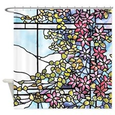 Tiffany Floral Skylight Shower Curtain