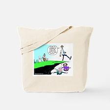 Anti Obama Over A Cliff Tote Bag