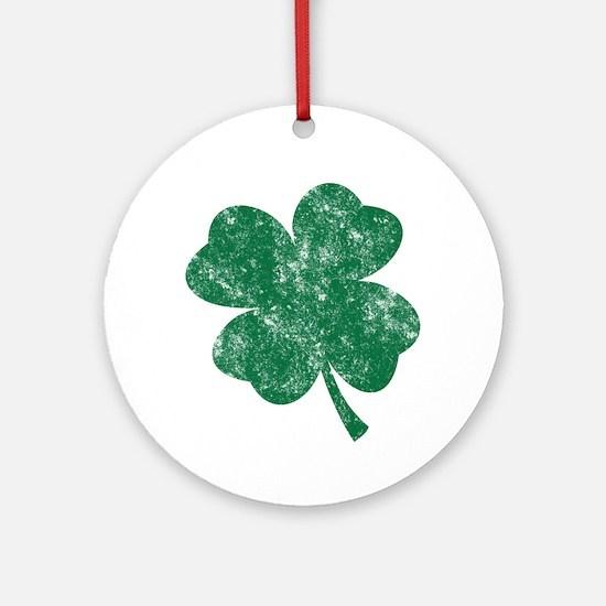 St Patrick's Shamrock Ornament (Round)