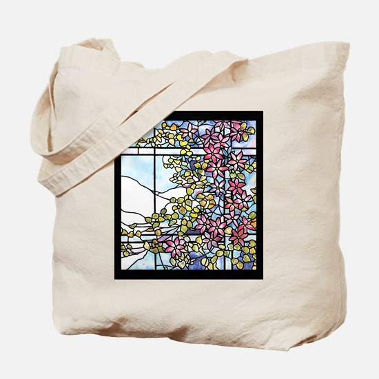 Tiffany Floral Skylight Tote Bag