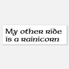 Rainicorn Bumper Car Car Sticker