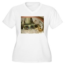 Wood Stove Room Plus Size T-Shirt