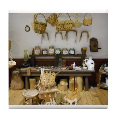 Basket Weaving Room Tile Coaster