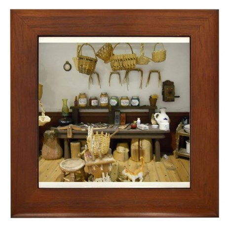 Basket Weaving Room Framed Tile