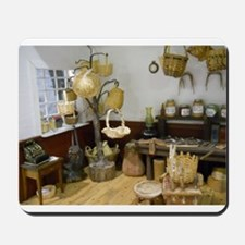Basket Buying Doll House Room Mousepad