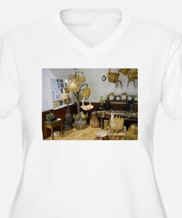 Basket Buying Doll House Room Plus Size T-Shirt