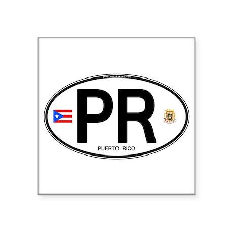 Puerto Rico Euro Oval Oval Sticker