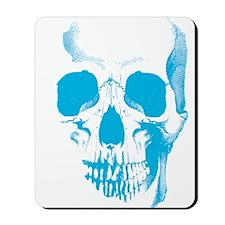 Blue Skull Face Mousepad