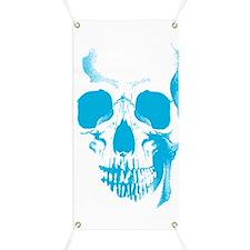 Blue Skull Face Banner