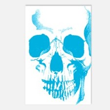 Blue Skull Face Postcards (Package of 8)