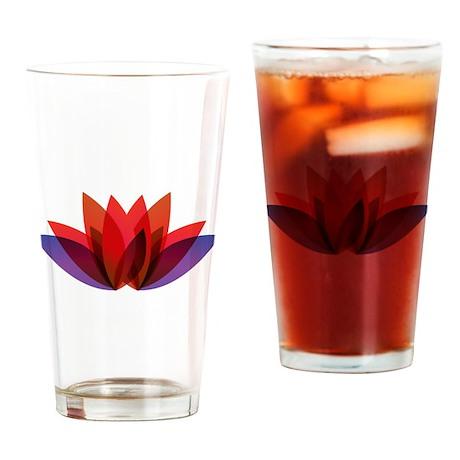Flower Design Drinking Glass