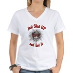 Shut UP and Eat It Women's V-Neck T-Shirt
