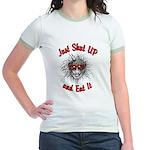 Shut UP and Eat It Jr. Ringer T-Shirt