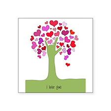 I Love You Tree Sticker