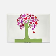 I Love You Tree Rectangle Magnet