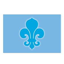 Blue Fleur De Lis Postcards (Package of 8)