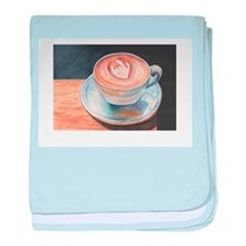 I Love You Coffee #2 baby blanket