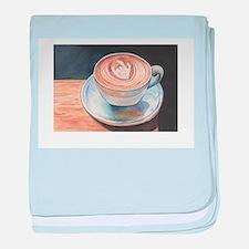 I Love You Coffee #2 baby blanket