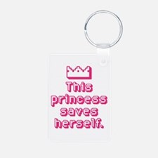This Princess Saves Herself Keychains