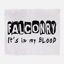 Falconry Designs Throw Blanket