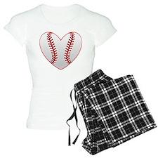 cute Baseball Heart Pajamas