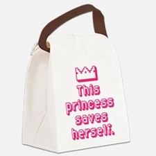This Princess Saves Herself Canvas Lunch Bag