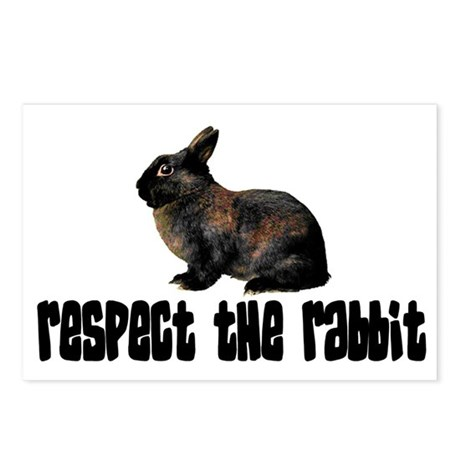 RESPECT THE RABBIT Postcards (Package of 8)