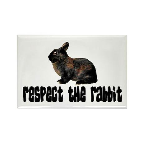 RESPECT THE RABBIT Rectangle Magnet