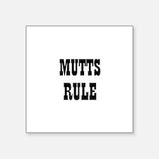 MUTTS RULE Rectangle Sticker