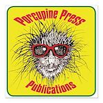 """Porcupine Press Logo Square Car Magnet 3"""" x 3"""