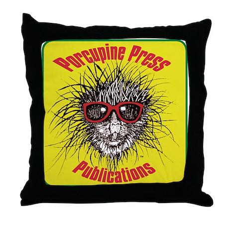 Porcupine Press Logo Throw Pillow