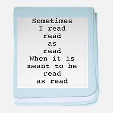 Read read as read baby blanket