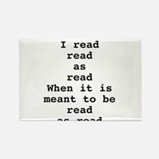 Read read as read Rectangle Magnet