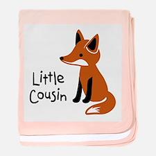 Little Cousin - Mod Fox baby blanket