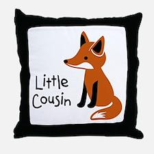 Little Cousin - Mod Fox Throw Pillow