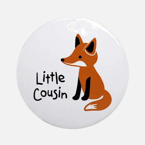 Little Cousin - Mod Fox Ornament (Round)