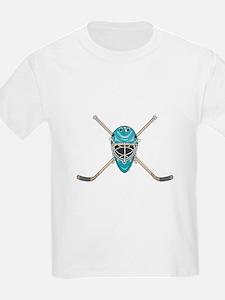 Hockey Goalie Mask and Cross Sticks Kids T-Shirt