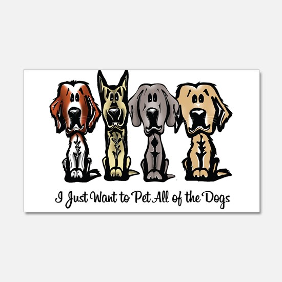 I Just Want to Pet All of the Dogs Wall Decal