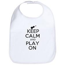 Keep Calm and Play On Violin Bib